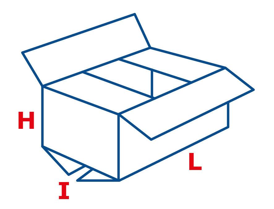Dimensioni scatole cartone
